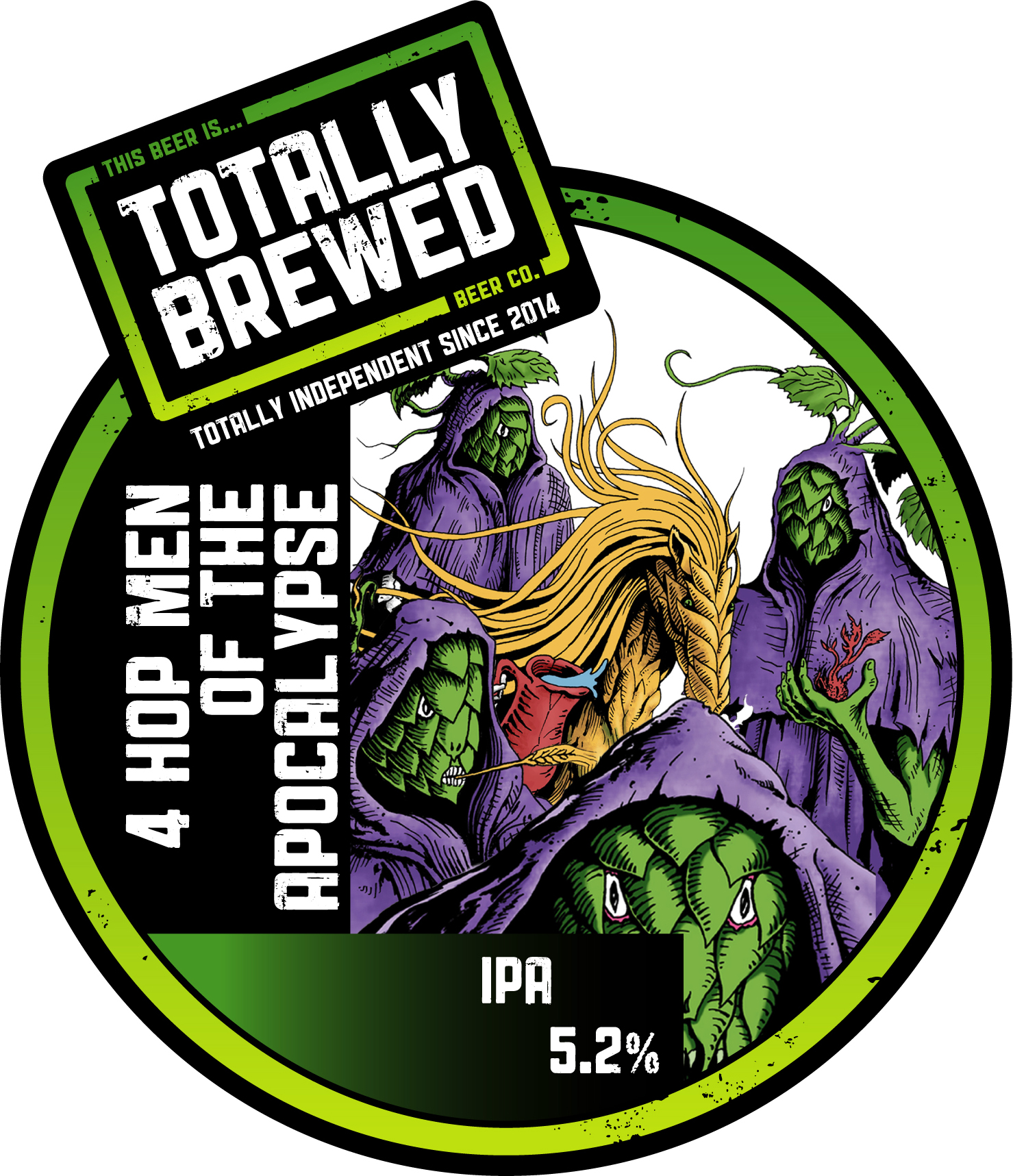 Totally Brewed 4 Hopmen of the Apocalypse 9 Gallons Pale5.2%