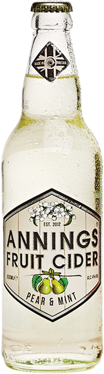 Annings Fruit Cider 12 x 50cl – Pear and Mint    4.0%