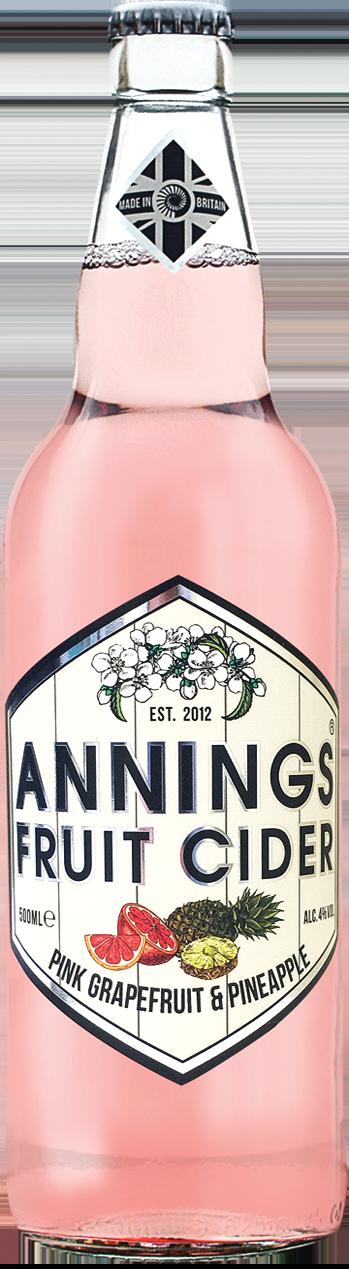 Annings Fruit Cider 12 x 50cl – Grapefruit & Pineapple 4.0%