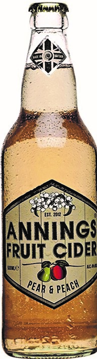 Annings Fruit Cider 12 x 50cl – Pear & Peach    4.0%