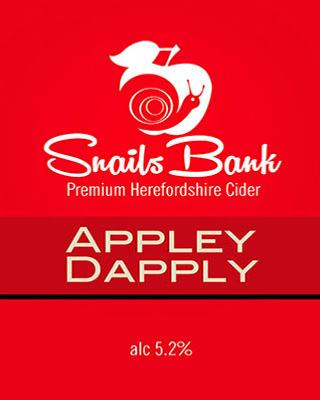 Snails Bank Appley Dapply Cider 20Ltr Bag In Box Clear 5.2%