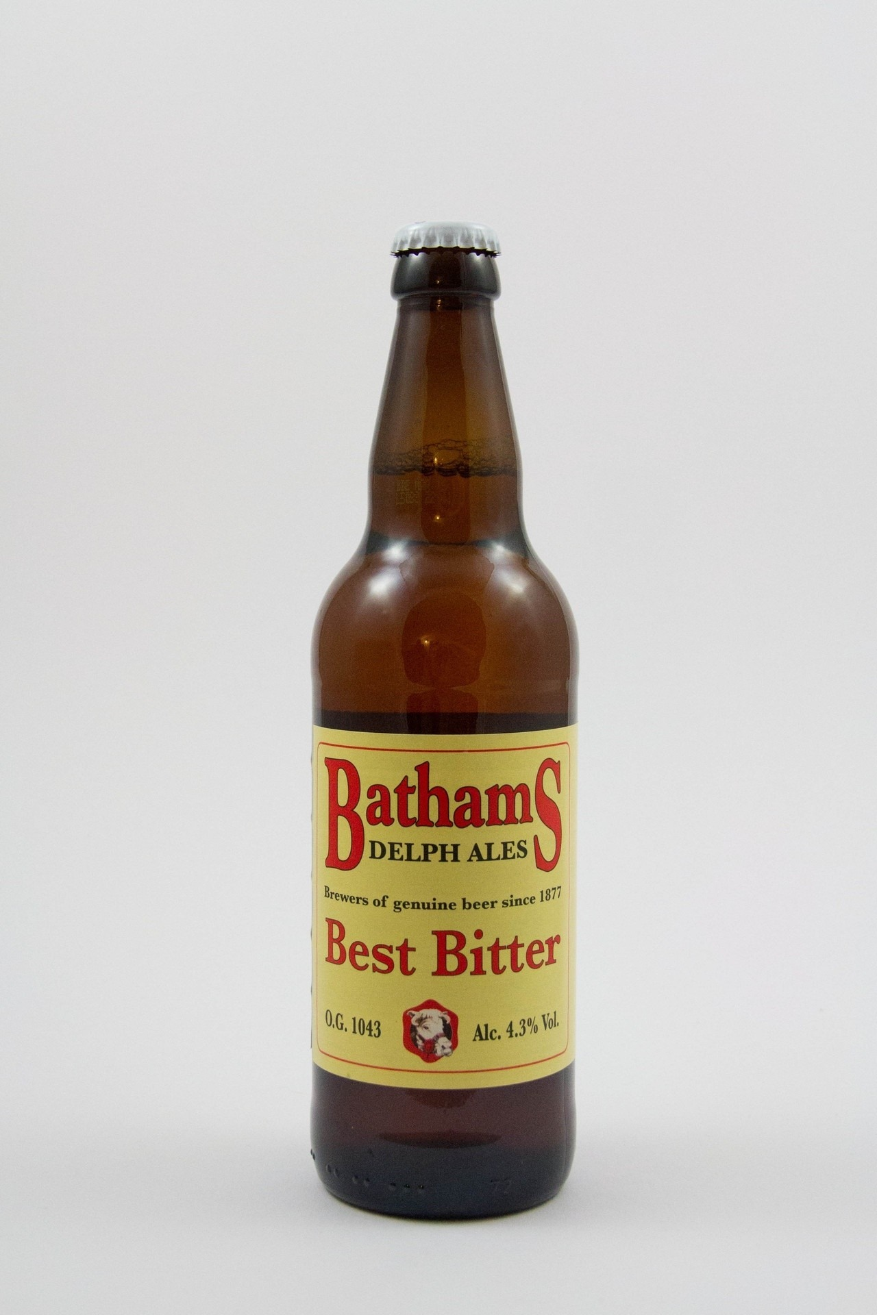 Bathams Bitter 12 x 500ml Bottles Straw 4.3%