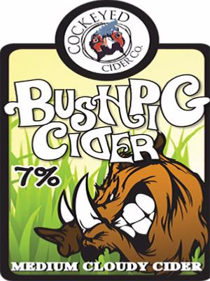 Cockeyed Cider Bush Pig 20Ltr Bag In Box Cloudy 7.0%