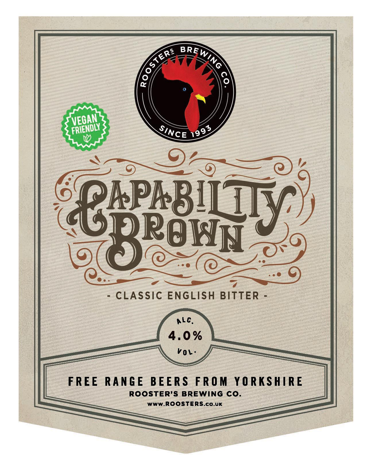 Rooster's Capability Brown 9 Gallons Deep Amber 4.0%