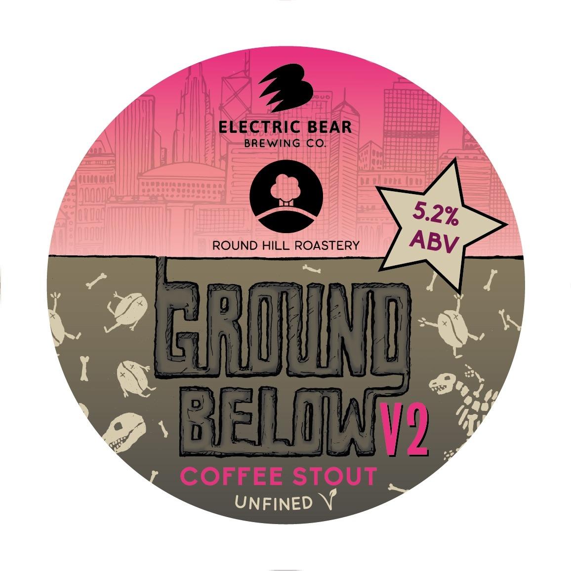 Electric Bear Ground Below Coffee Port 30Ltr E-Keg Dark 5.2%