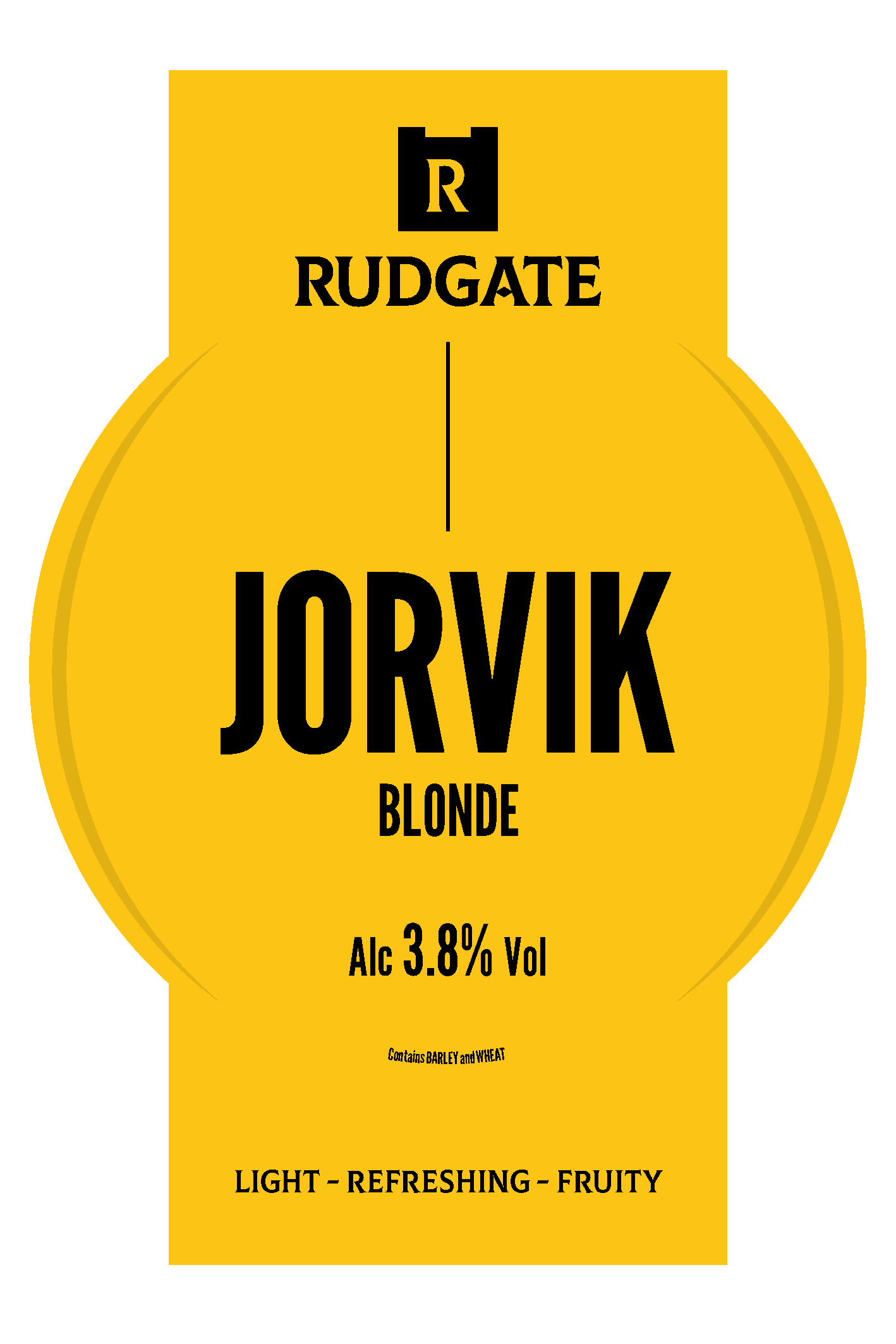 Rudgate Jorvik Blonde 9 Gallons Blonde  3.8%