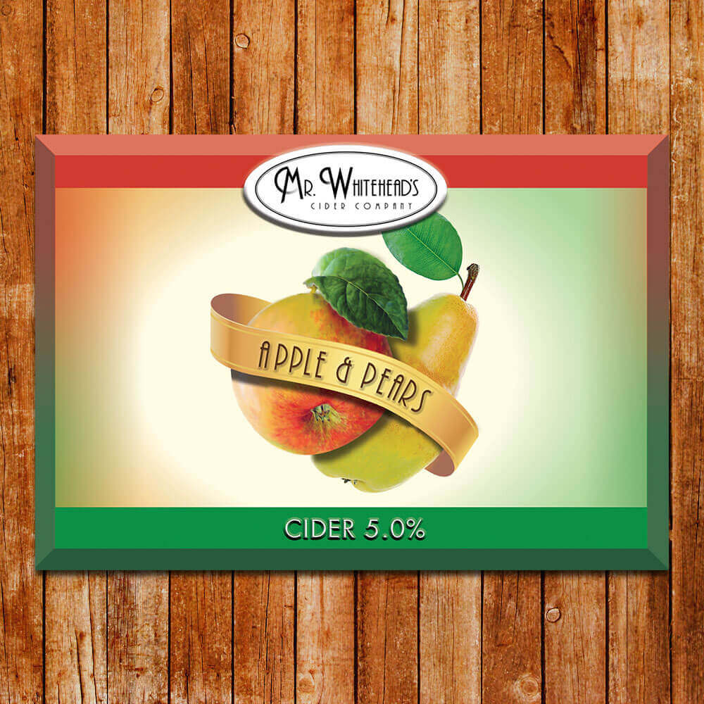 Mr Whiteheads Apple & Pear Cider 20Ltr Bag in Box   5.0%