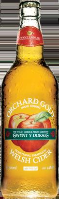 Gwynt Y Ddraig Orchard Gold Bottles 12 x 500ml    4.9%