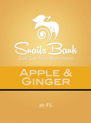 Snails Bank Apple & Ginger Cider 20Ltr Bib    4.0%