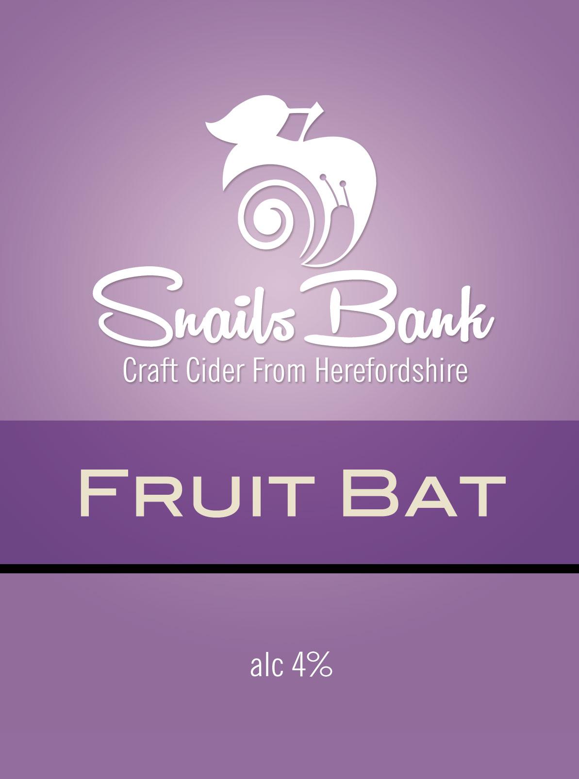 Snails Bank Fruit Bat Cider 20Ltr  BIB    4.0%