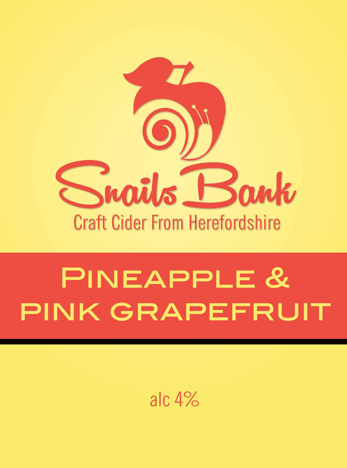 Snails Bank Pineapple & Pink Grapefruit Cider 20Ltr Bib 4.0%