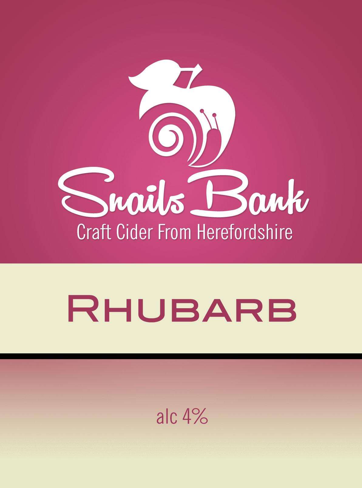 Snails Bank Rhubarb Cider 20Ltr Bib    4.0%
