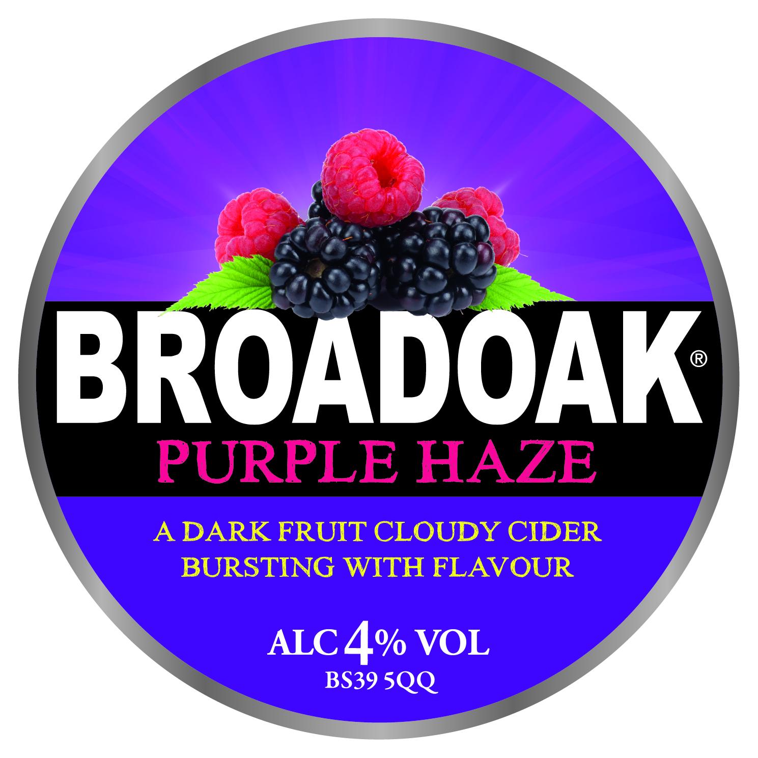 Broadoak Purple Haze Cider 20Ltr Bib    4.0%
