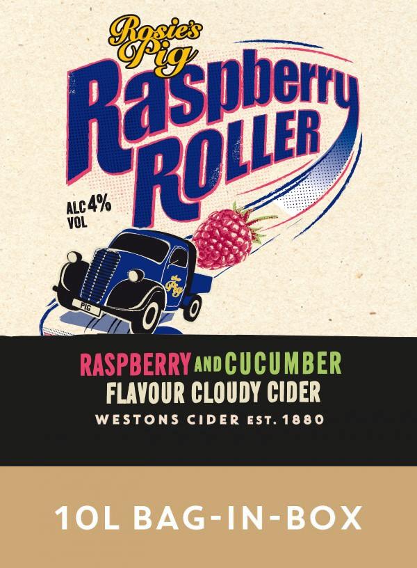Westons Rosie's Pig Raspberry & Cucumber 10Ltr BIB    4%