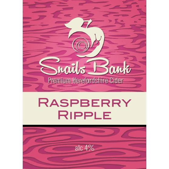 Snails Bank Raspberry Ripple Cider 20Ltr Bib    4.0%
