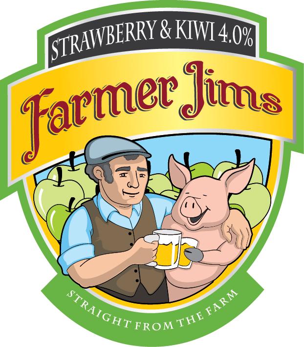 Farmer Jim Strawberry & Kiwi 20Ltr Bag in Box   4.0%