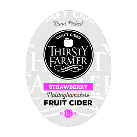 Thirsty Farmer Strawberry Cider 20Ltr Bib    4.0%