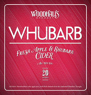 Woodhall's Whubarb Cider 20Ltr Bag in Box    4.0%
