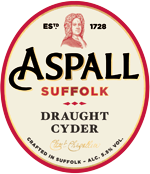 Aspall Draught Suffolk Cyder 11 Gallons  5.5%