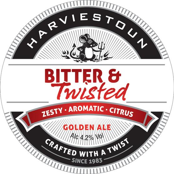 Harviestoun Bitter & Twisted 9 Gallons Golden  3.8%
