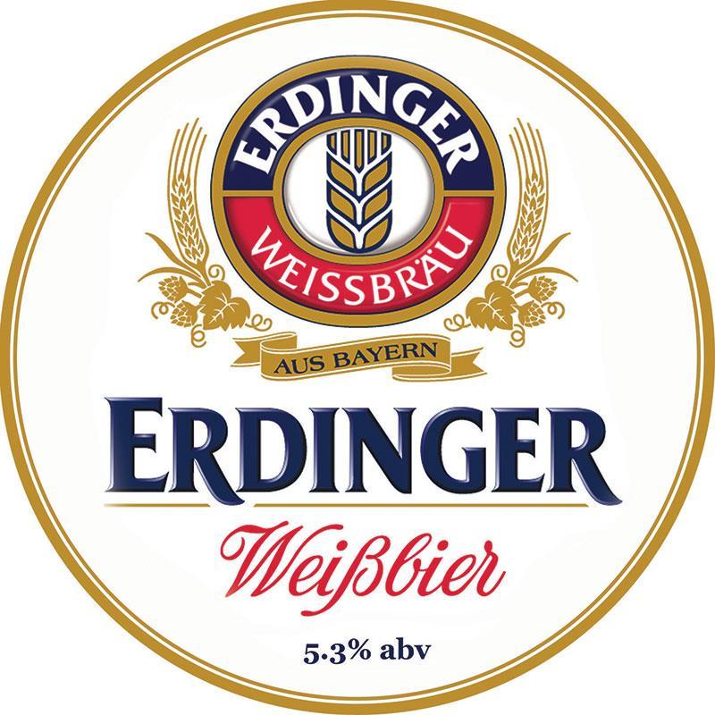 Erdinger Weiss Beer 30Ltr Keg   5.3%    NON DEPOSITABLE