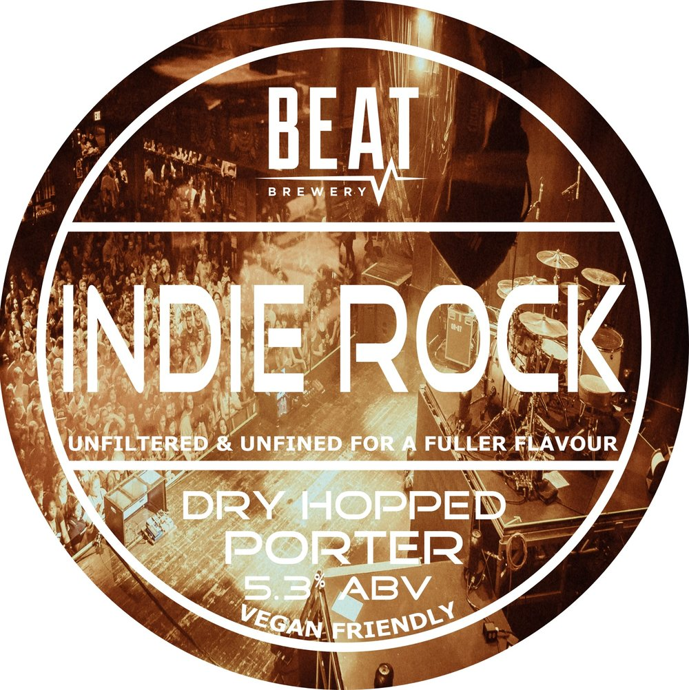 Beat Ales Indie Rock Porter Unfined 9 Gallons Black 5.3%