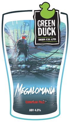 Green Duck Megalomania 9 Gallons Fire Gold  4.5%