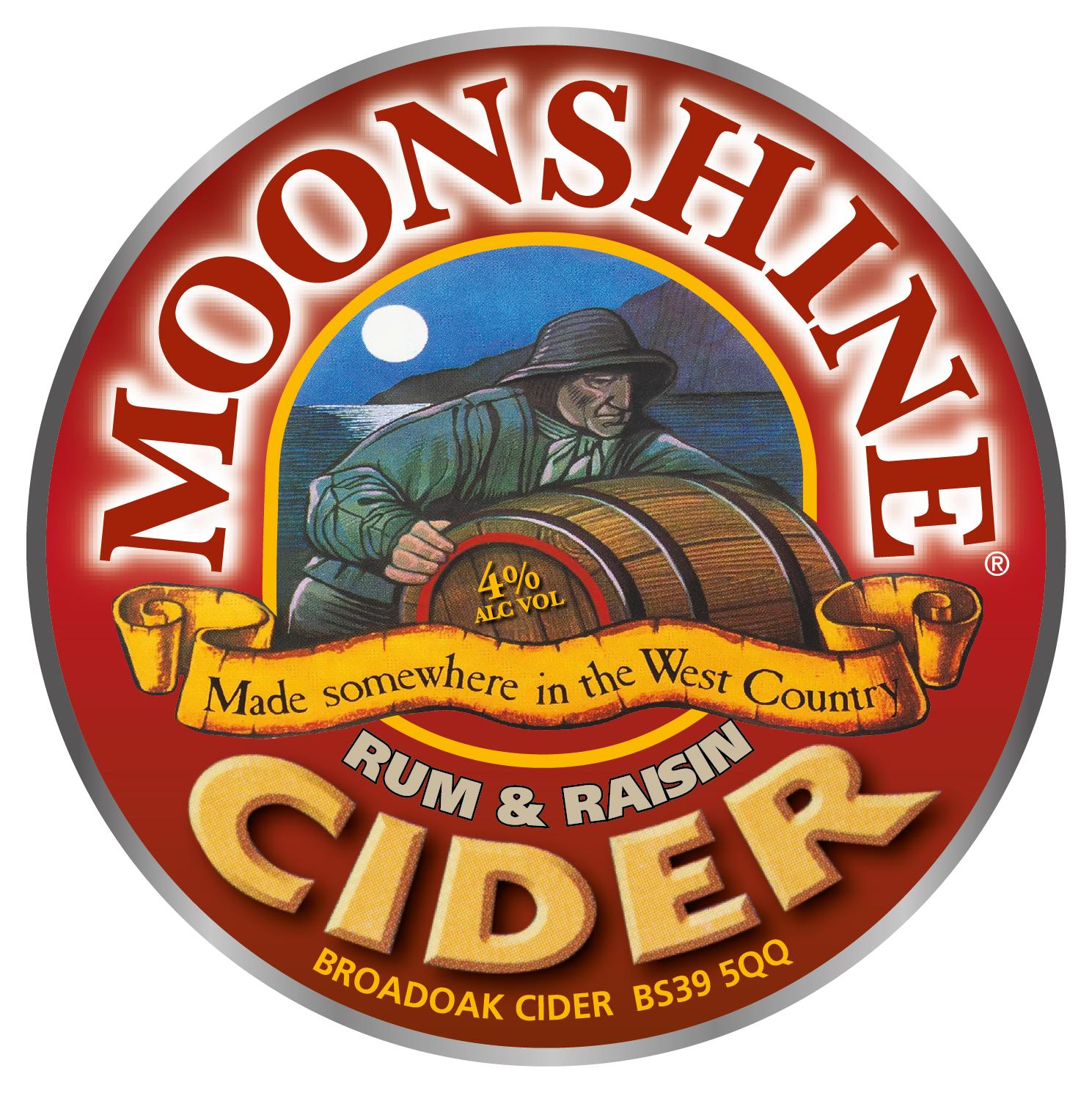 Broadoak Moonshine Rum & Raisin 20Ltr Bag in Box Clear 4.0%