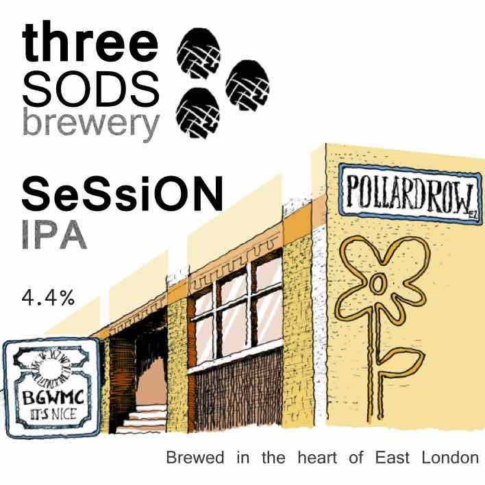Three Sods Brewery Session IPA 9 Gallons Light Pale 4.4%
