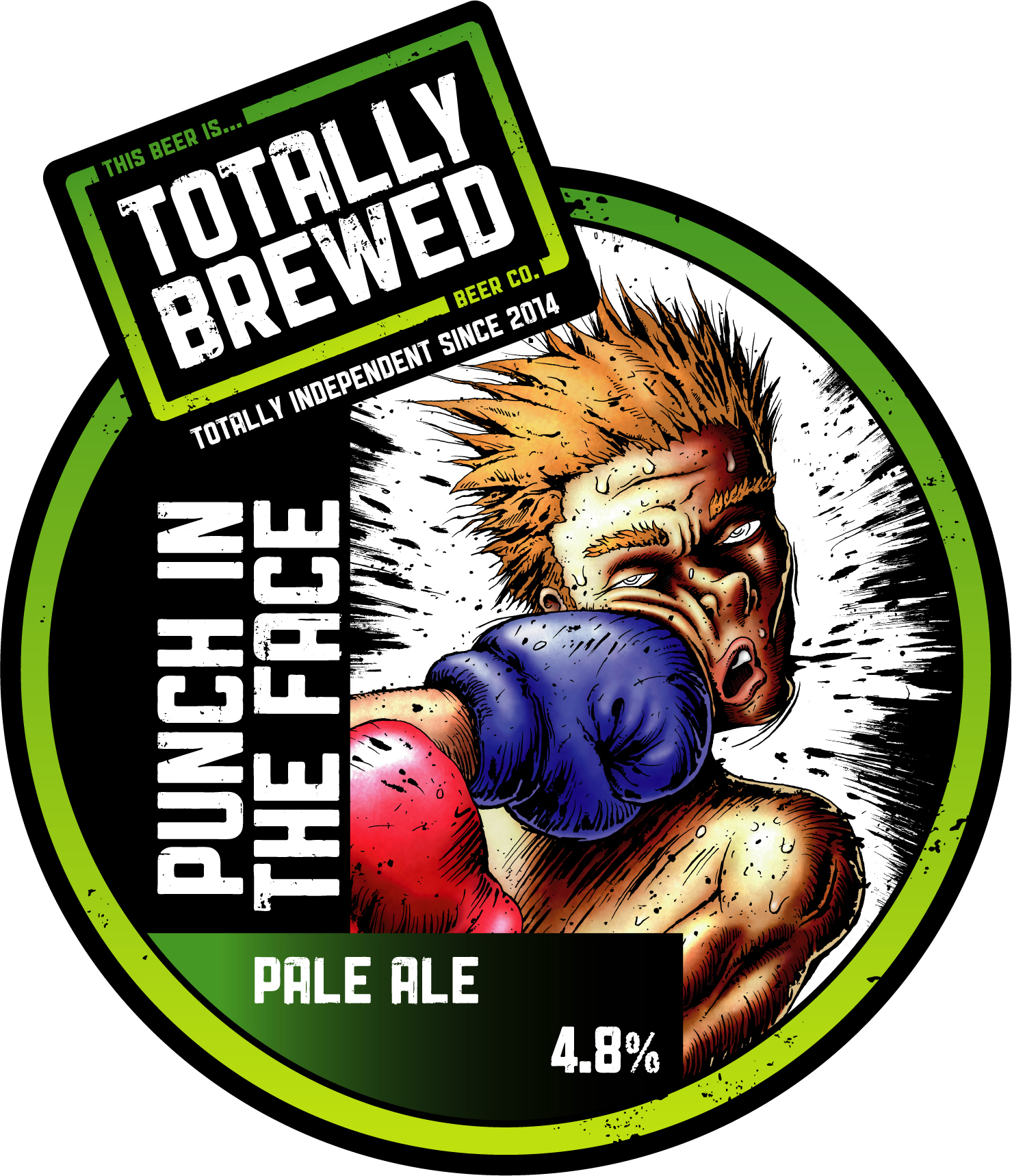 Totally Brewed Punch in the Face 9 Gallons Amber 4.8%