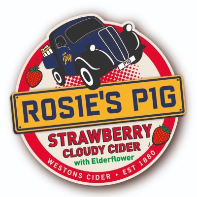 Westons Rosie Pig Strawberry & Elderflower Cider10Ltr Bib 4%