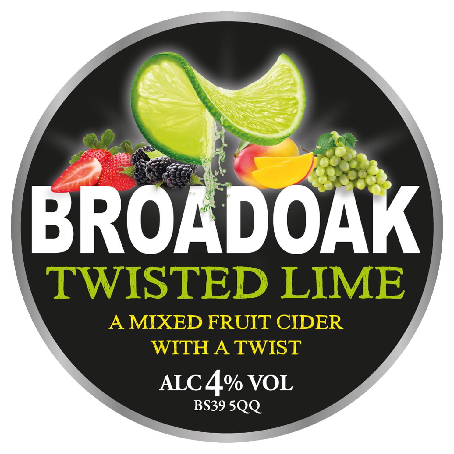 Broadoak Twisted Lime 20Ltr Bag in Box 4.0%