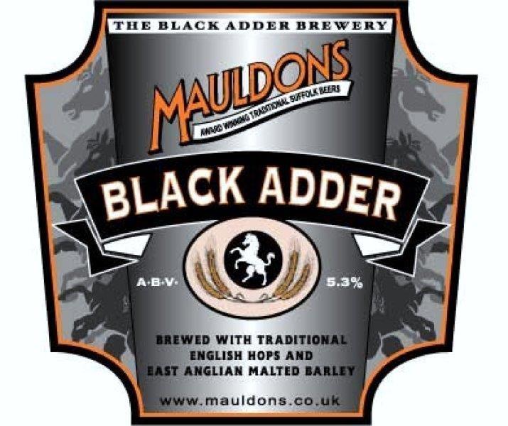Mauldons Black Adder Stout 9 Gallons Dark 5.3%