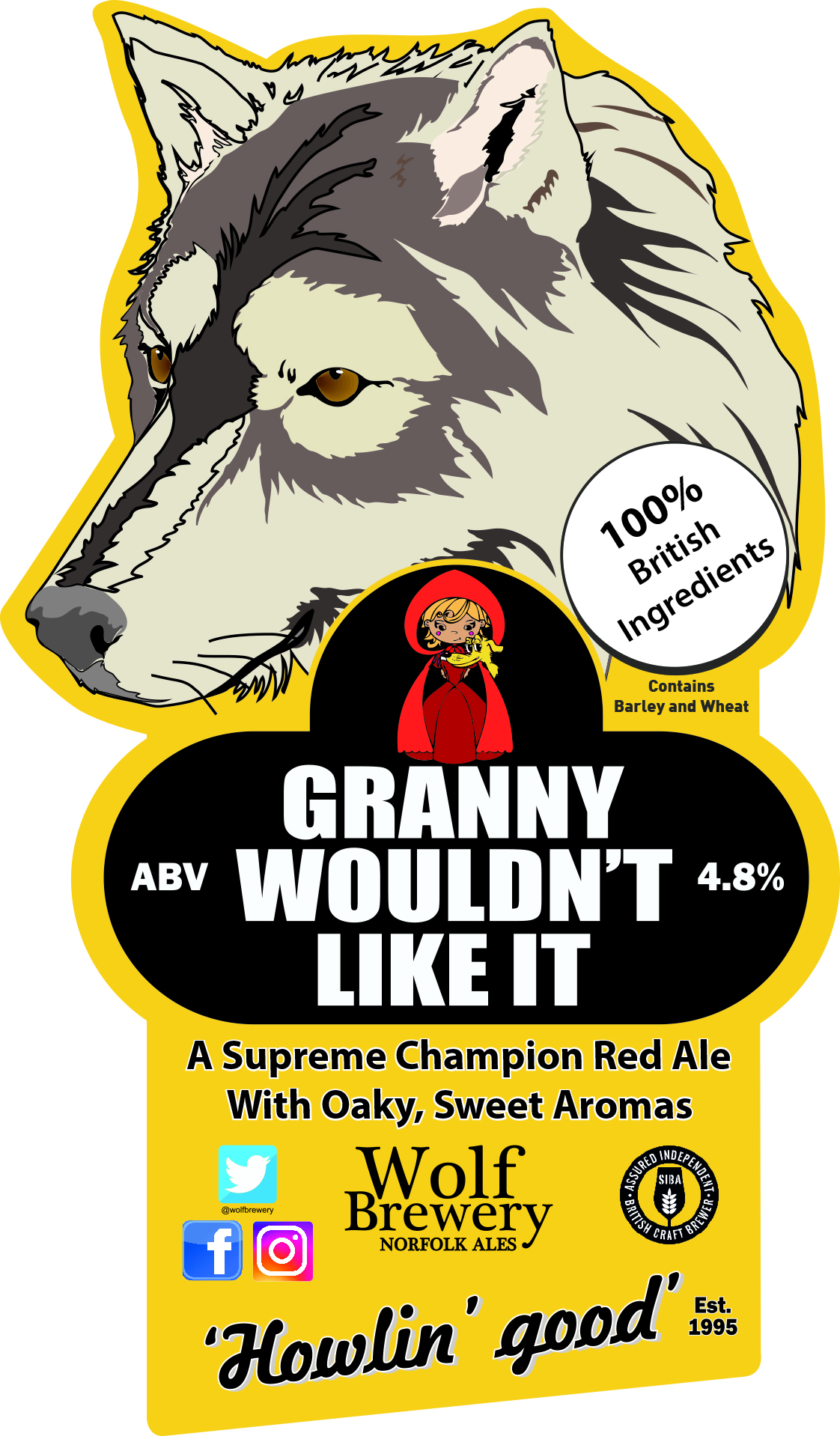 Wolf Granny Wouldn't Like It 9 Gallons Red 4.8%