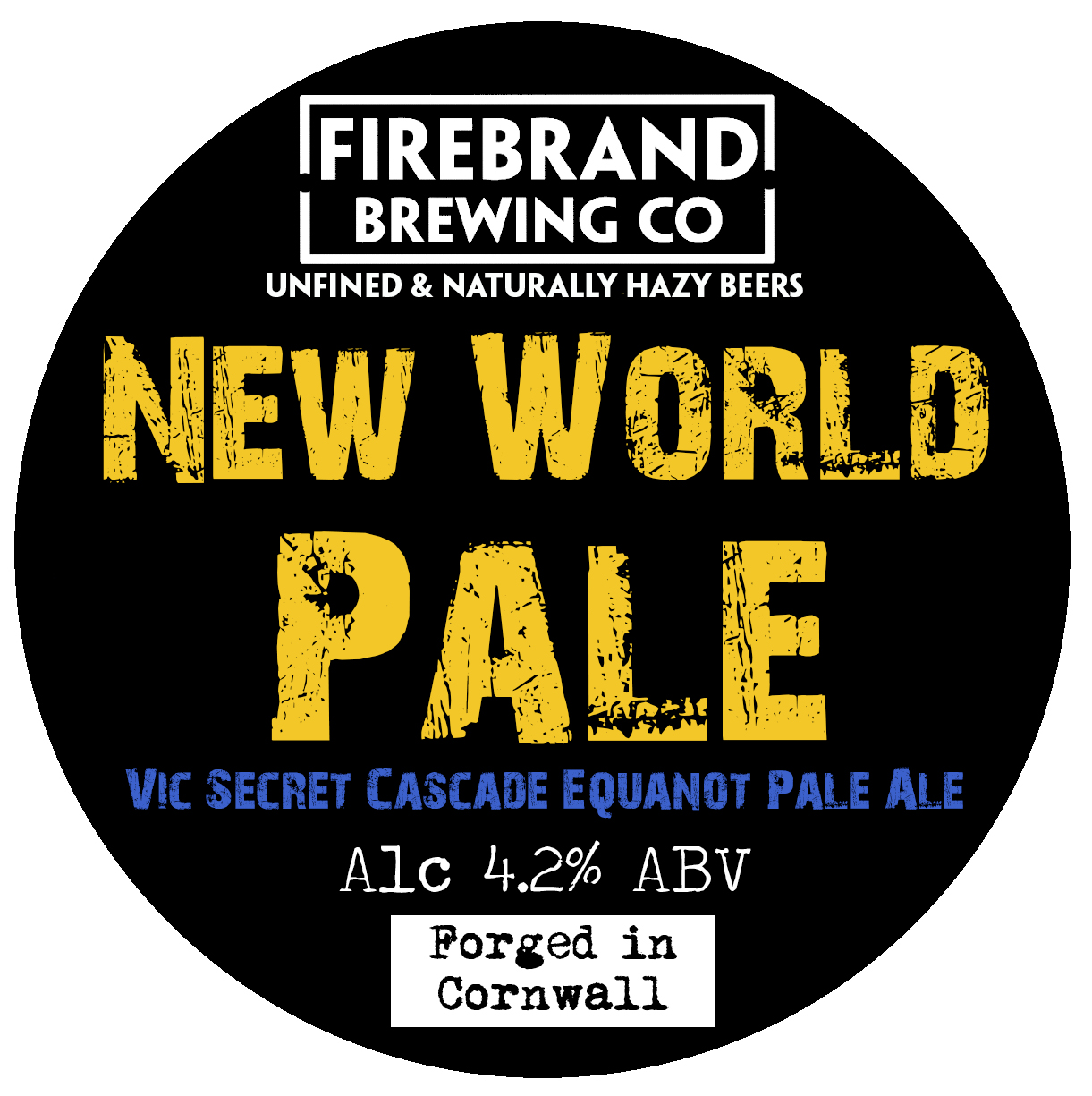 Firebrand New World Pale Ale (Unfined) 9 Gallons Pale 4.2%