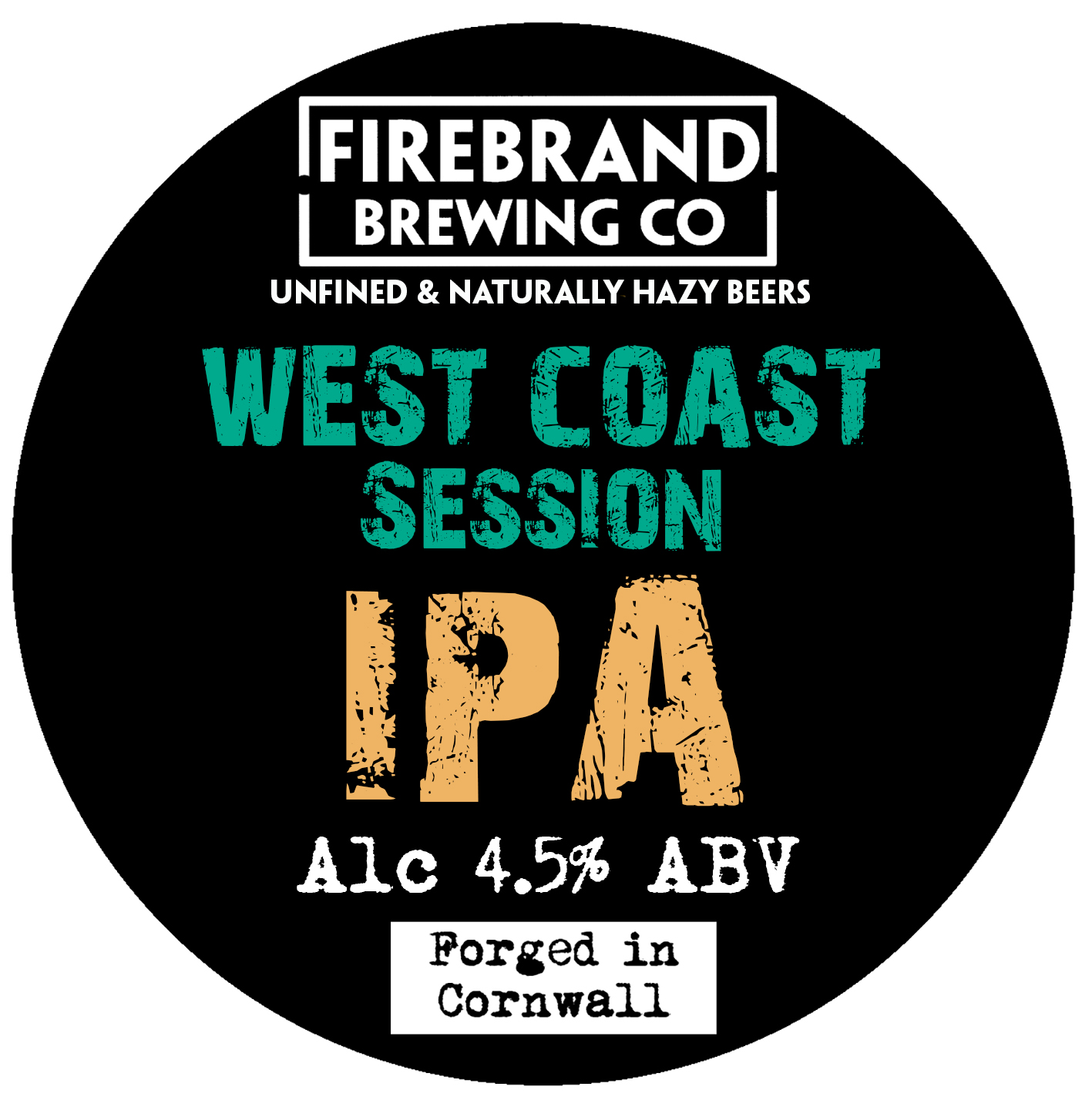 Firebrand West Coast IPA (Unfined) 9 Gallons Pale 4.5%