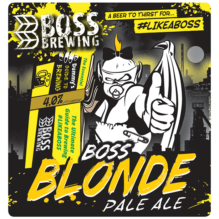 Boss Brewing Blonde (Vegan) 9 Gallons Blonde 4.0%
