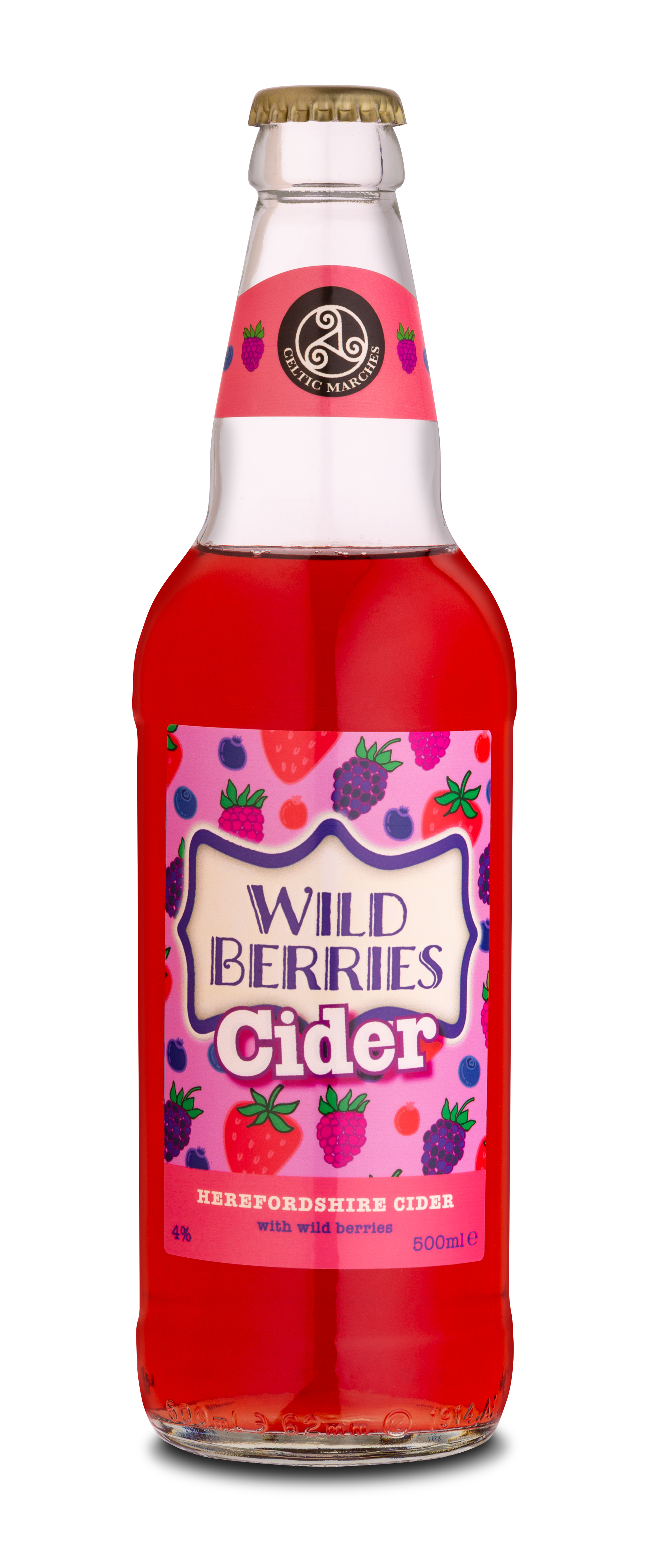 Celtic Marches Wild Berries Cider 12x500ml Bottles 4.0%