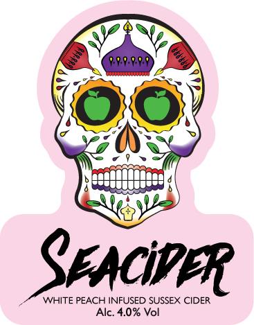 Seacider White Peach Cider 20Ltr Bag in Box 4.0%