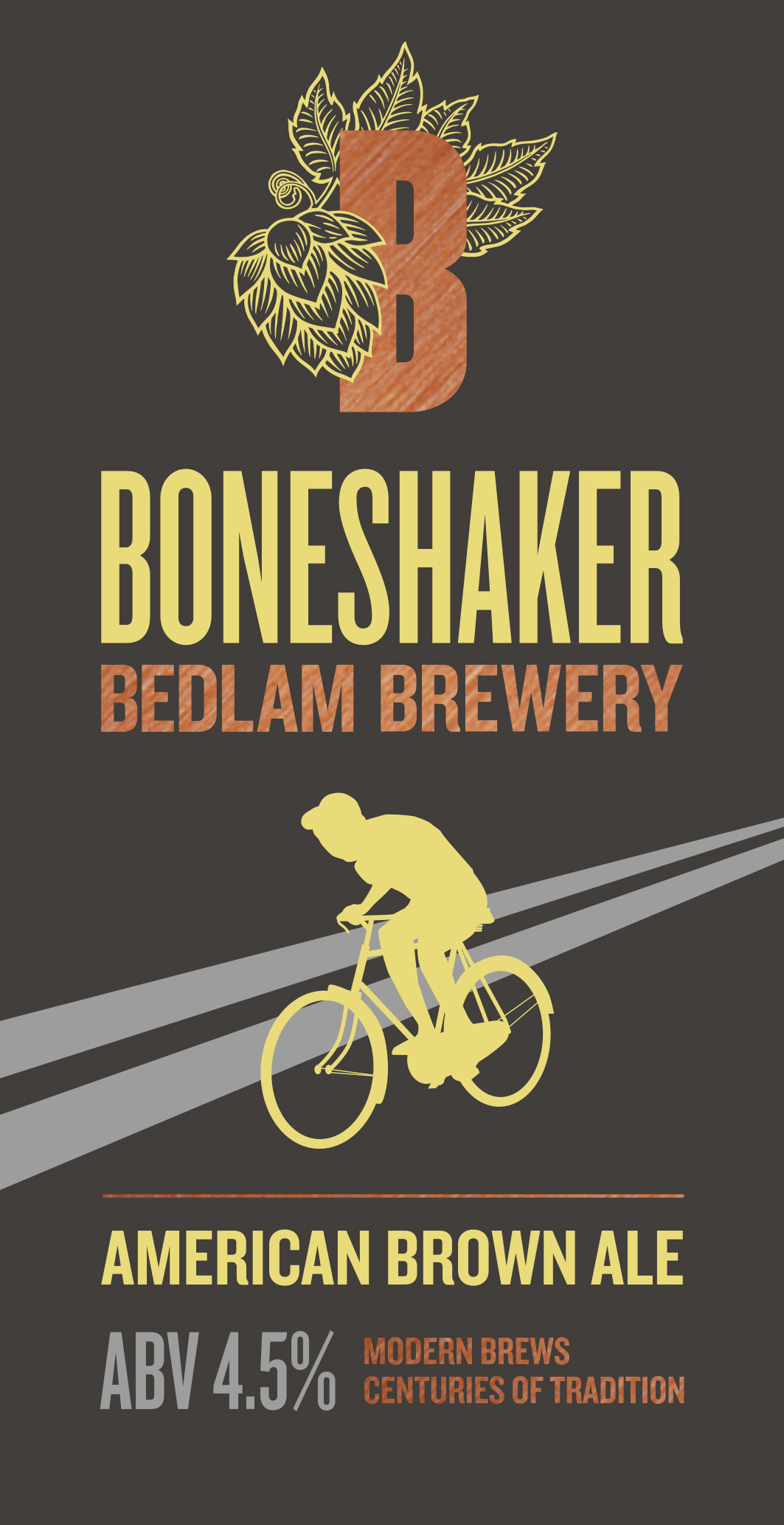 Bedlam Boneshaker 9 Gallons Brown 4.5%