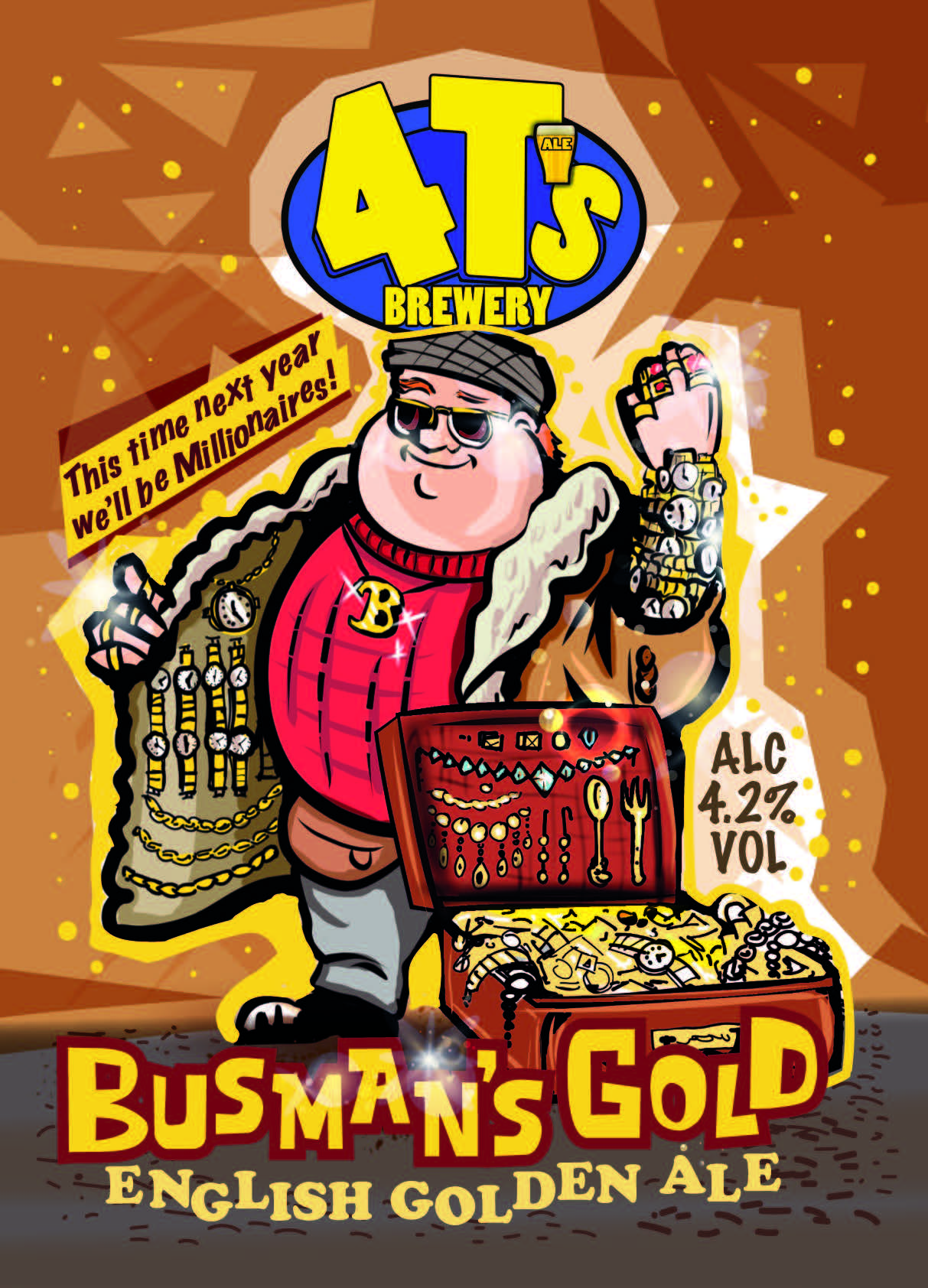 4 T's Brewery Busman's Gold 9 Gallons Golden 4.2%