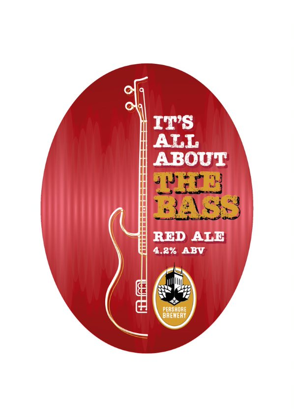 Pershore Brewery All About The Bass 9 Gallon Red 4.2%