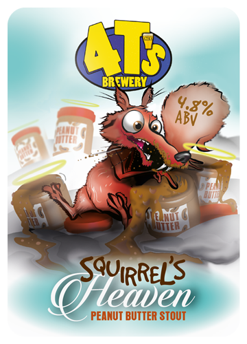 4 T's Brewery Squirrels Heaven Stout 9 Gallons Dark 4.8%