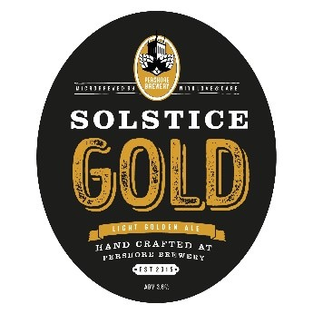 Pershore Brewery Solstice Gold 9 Gallons Golden 3.8%