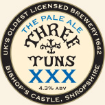 Three Tuns Brewery XXX 9 Gallons Pale   4.3%