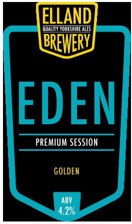Elland Brewery Eden 9 Gallons Straw    4.2%