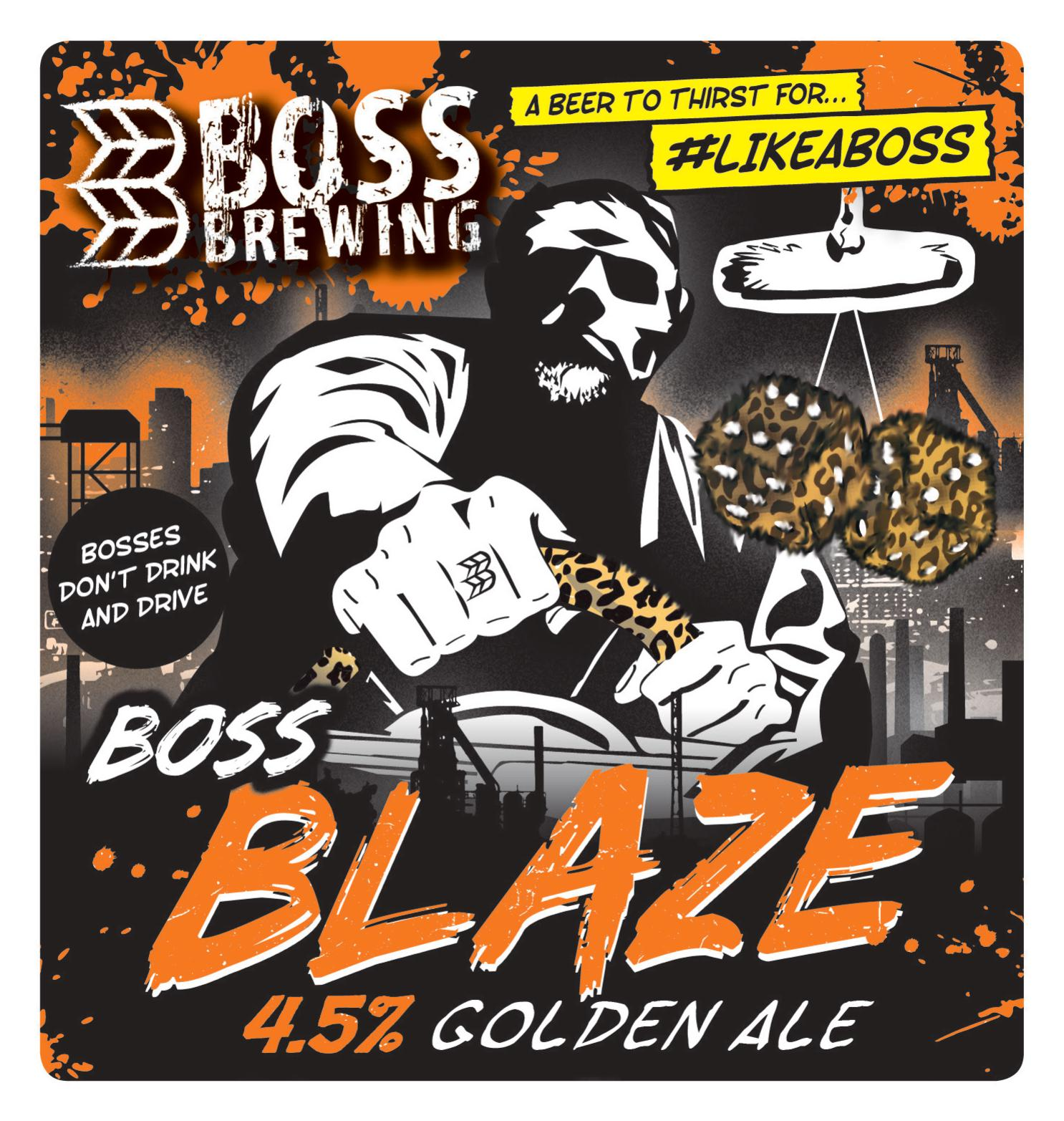 Boss Brewing Blaze (Vegan) 9 Gallons Golden   4.5%