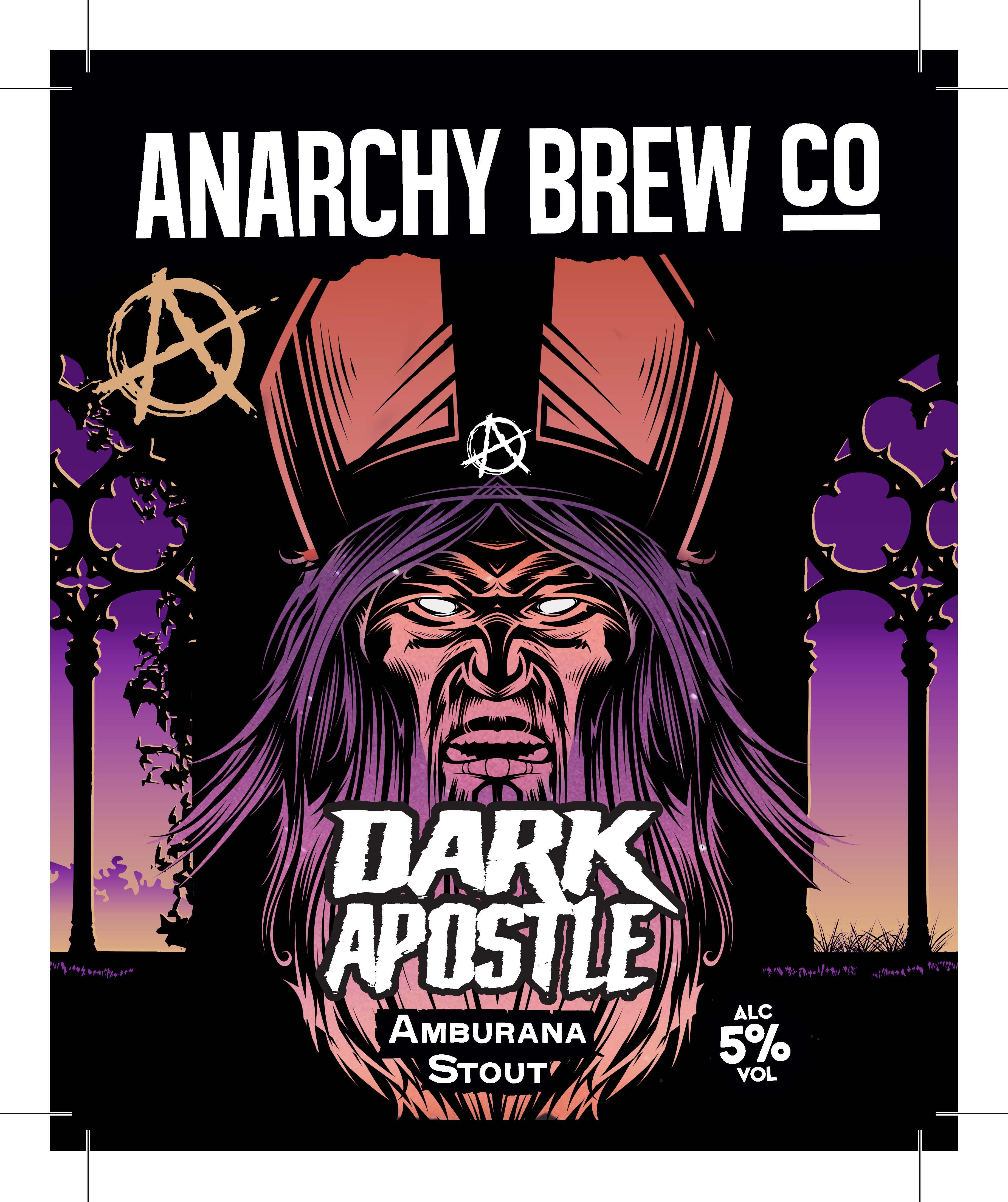 Anarchy Brew Dark Apostle Stout 9 Gallons Dark 5.0%
