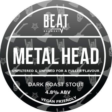 Beat Ales Metal Head Stout 9 Gallons Dark   4.8%