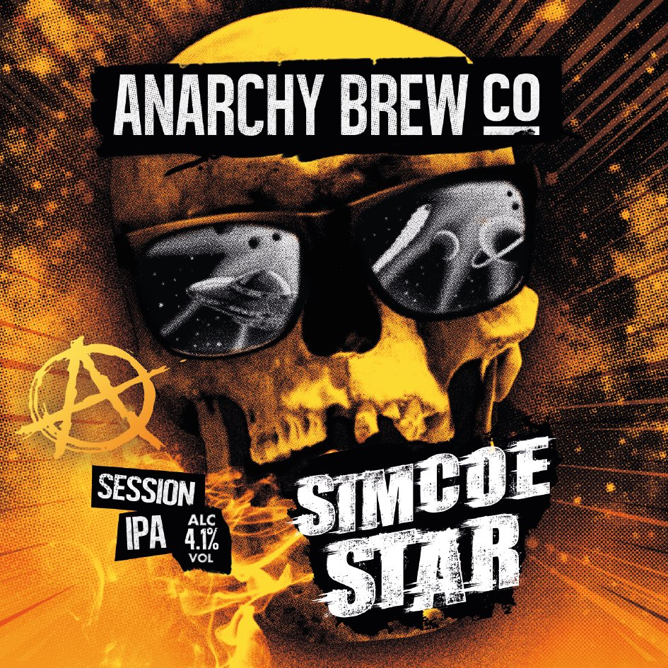 Anarchy Brew Simcoe Star(Unfined) 9 Gallons Blonde 4.1%